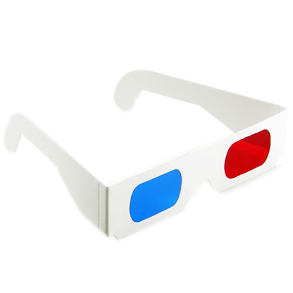 A pair of 3D glasses