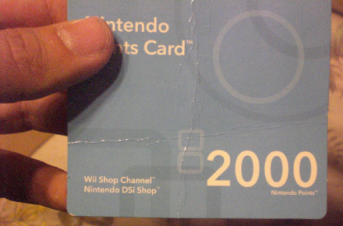 My Wii Points Card