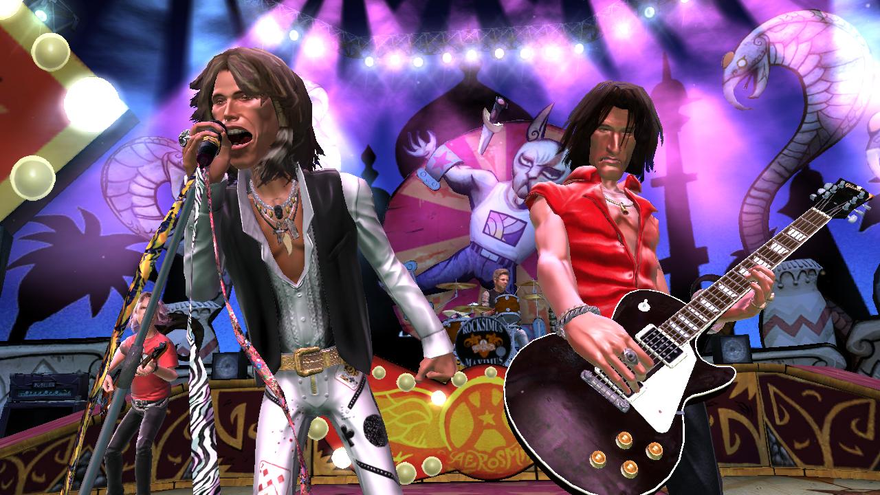 Dancing to guitar hero game a few years ago 6