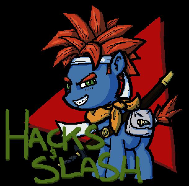 Hacks and Slash 6 Logo
