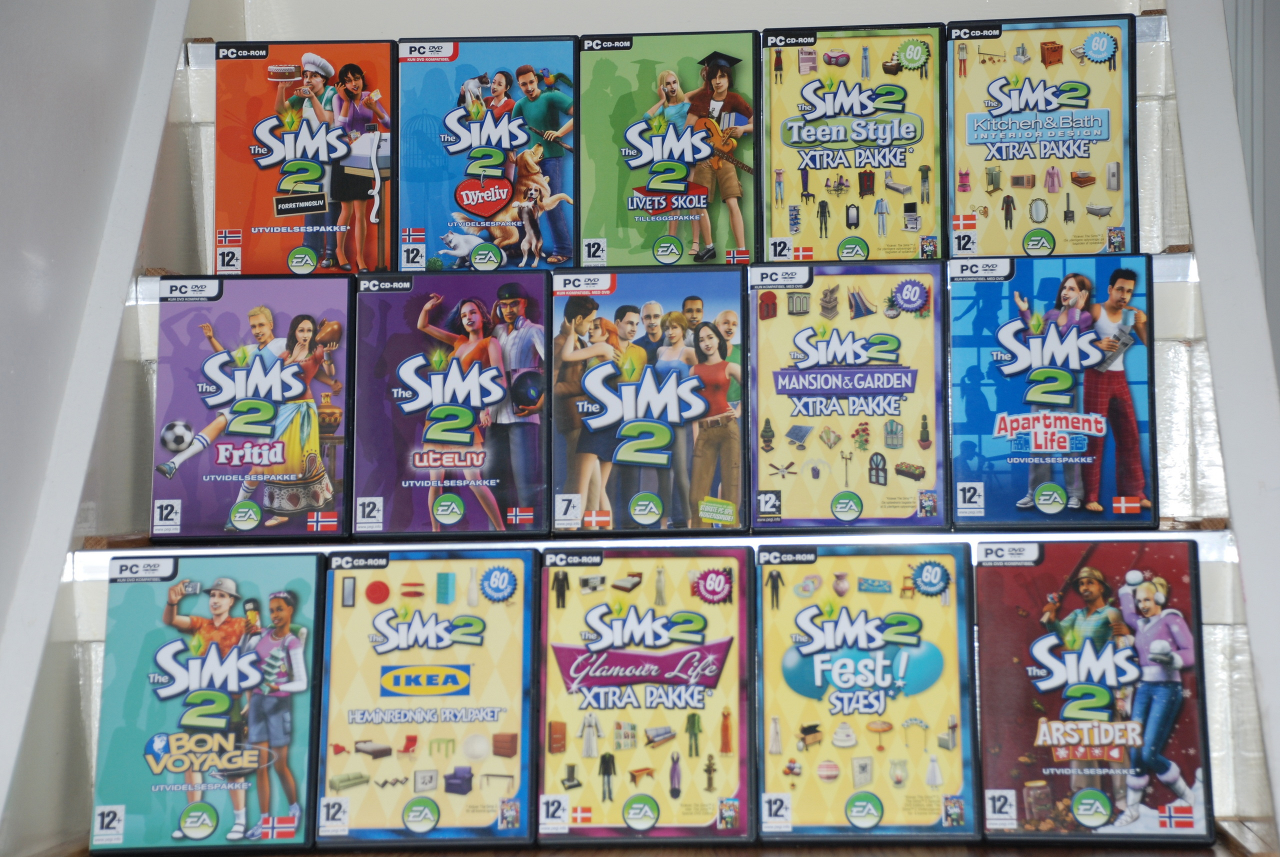 expansion games sims all 2 packs and