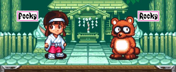 My Little Game Review - Pocky & Rocky (SNES)