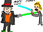 Layton Lightsaber Battle