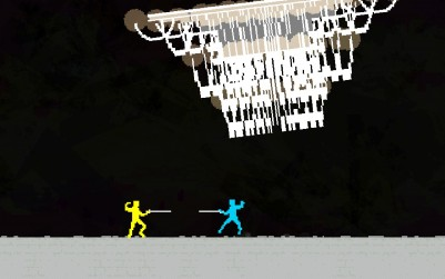 Chandelier swinging as you fight.