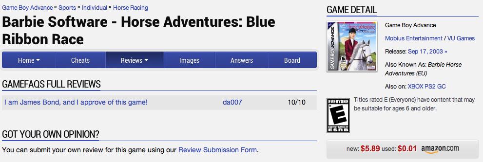 Review Dumpster Dive: Barbie Software - Horse Adventure: Blue Ribbon Race