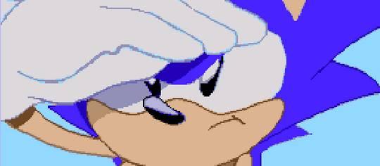 A screenshot from Sonic CD.