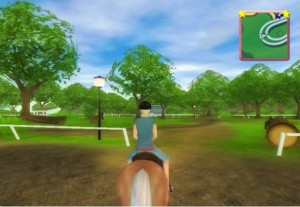 Proof that this game delivers.  There are, indeed, rideable horses in the game.