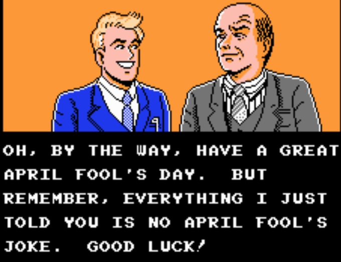Why even bring up April Fool's like that? What an ass. The game actually starts on Monday April 3rd, but April 3rd wasn't a Monday in 1990, so what the crap?