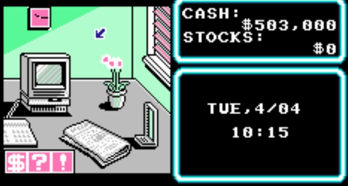 People bought stocks on personal computers in 1990. Interesting