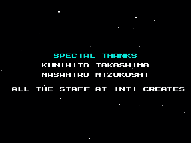 ...and Nathaniel Hoover, who spent six hours playing Mega Man 10 on an emulator that ran at 35% of regular speed to bring you this stupid screenshot of the end credits.