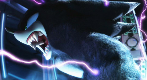"""Sonic as """"the werehog,"""" in his latest game."""