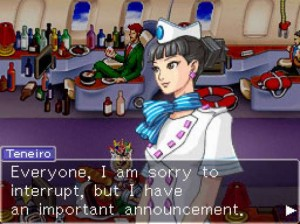 """Miles Edgeworth is a god among men. Also, thank you for flying with iFly Airlines today."""