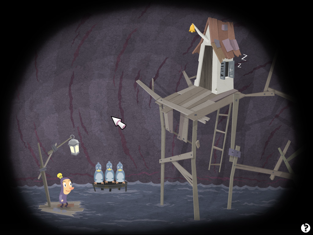 Hamlet screenshot: Water cavern.