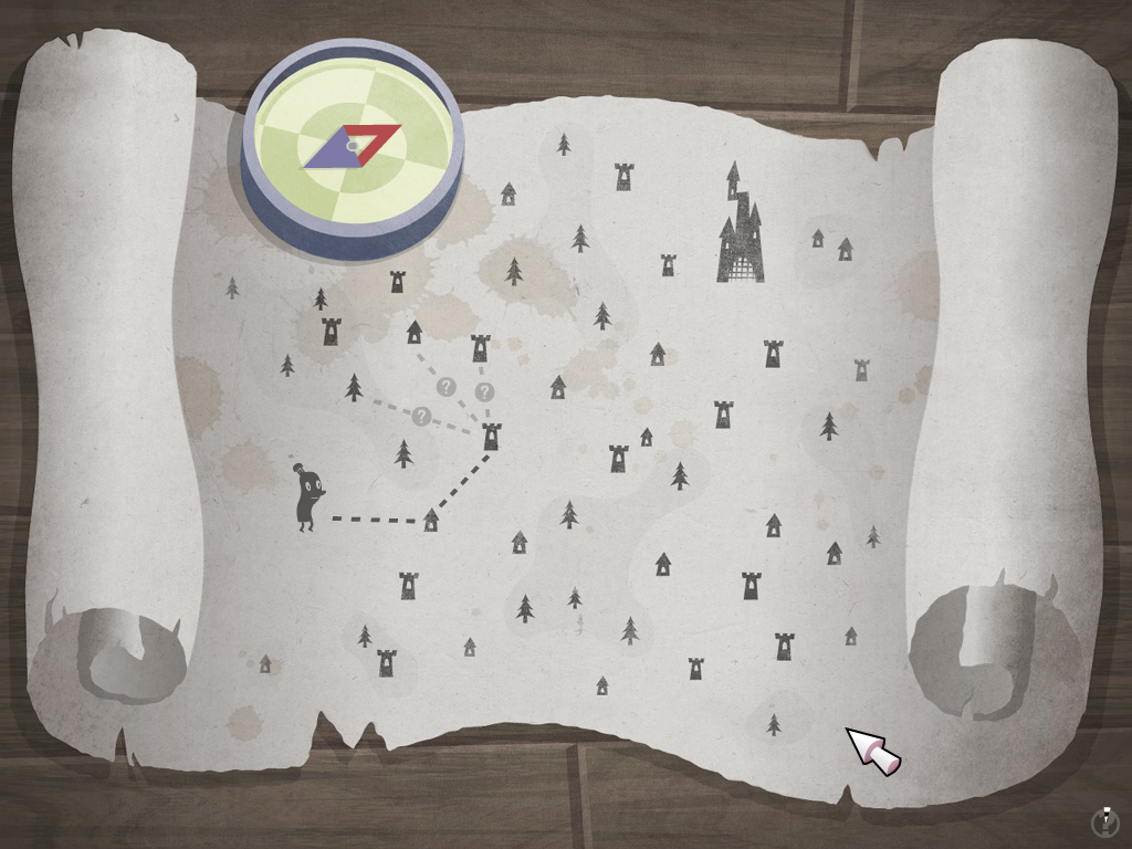 Hamlet screenshot: Map puzzle.