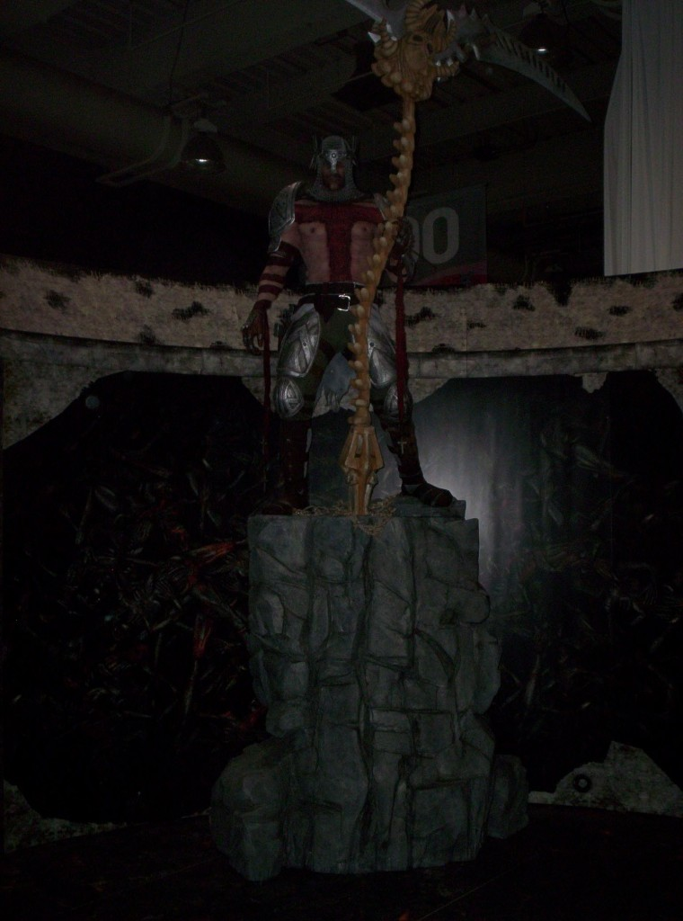 One of the displays in the Expo Hall. This one was for God of War III, and no, you may not take it home.
