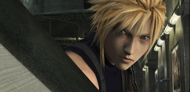 A screengrab from the PS3 tech demo showing off the intro to FF7 with enhanced graphics.