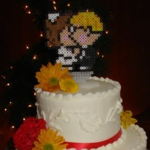 cake and topper