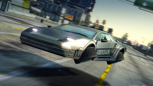 delorean_burnout