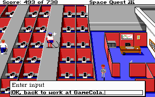 Space Quest 3 Office Game Company