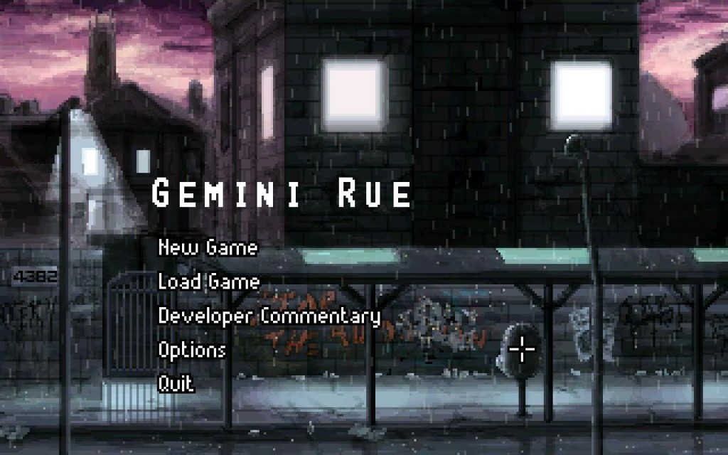 Gemini Rue Menu Screen