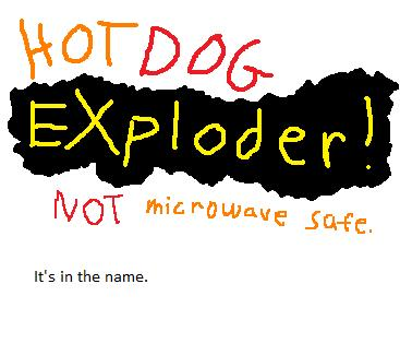 what game can you explode into a hotdog
