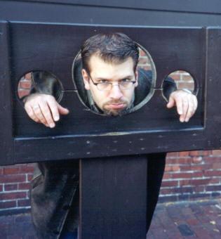 man in shackles