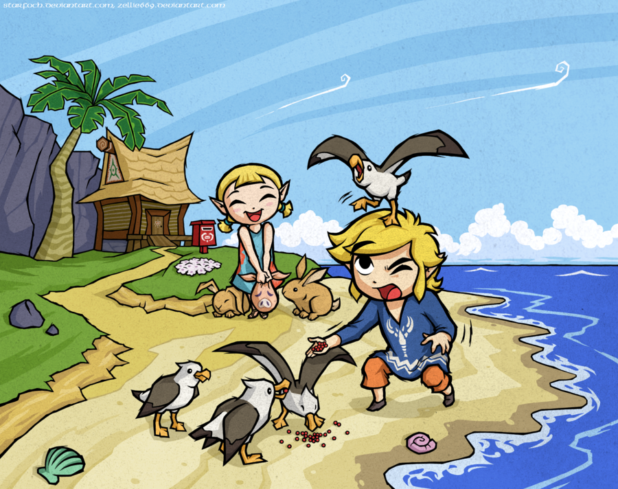 collab_with_zellie669__wind_waker__outset_siblings_by_starfoch-d4ouwoh