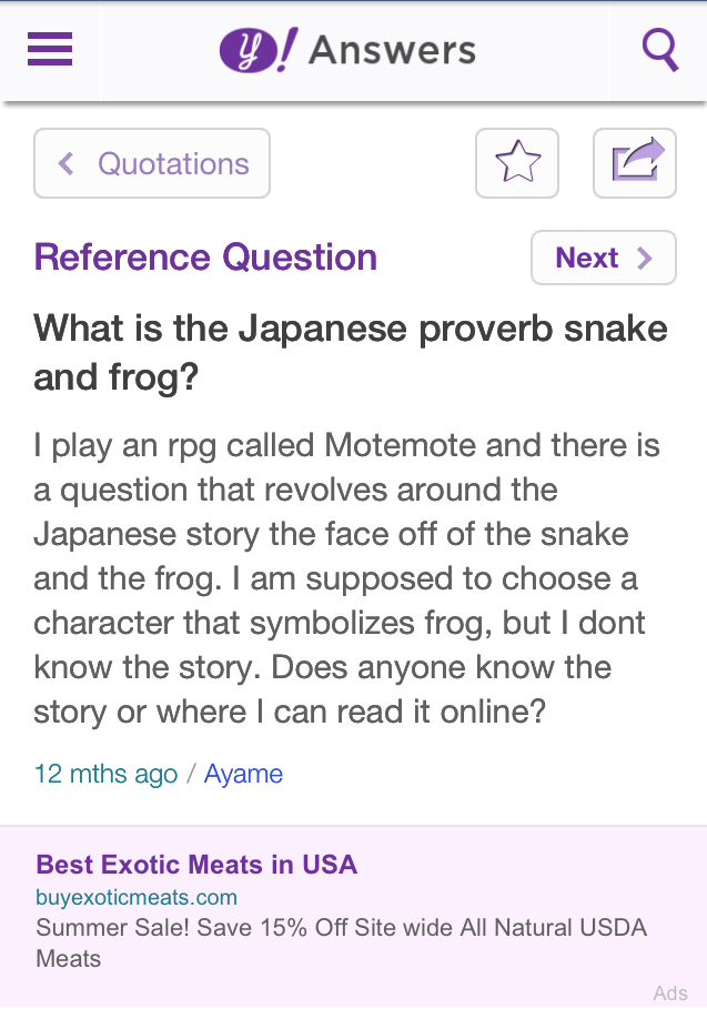 MOTEMOTE Yahoo answers