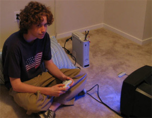 Teenager Playing a Game