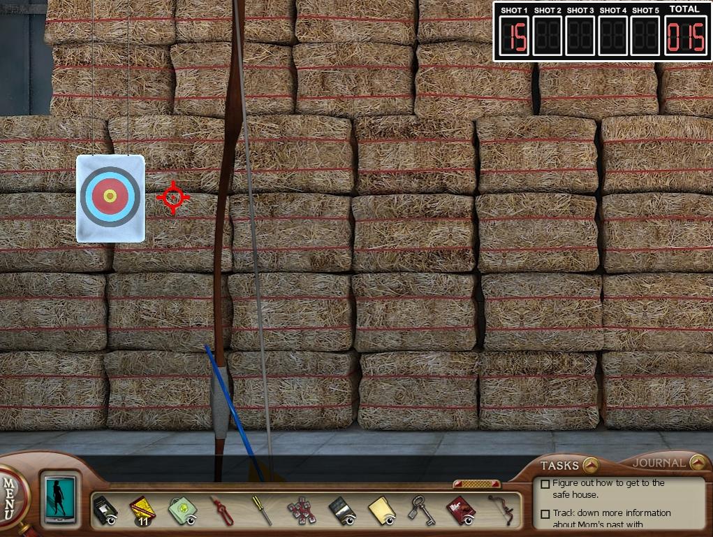 Nancy does archery