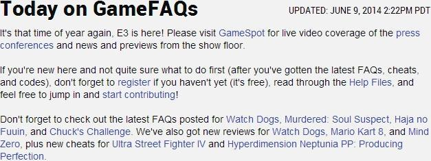 GameFAQs-Front-Page
