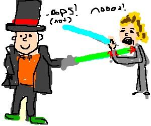 Layton Lightsaber Battle