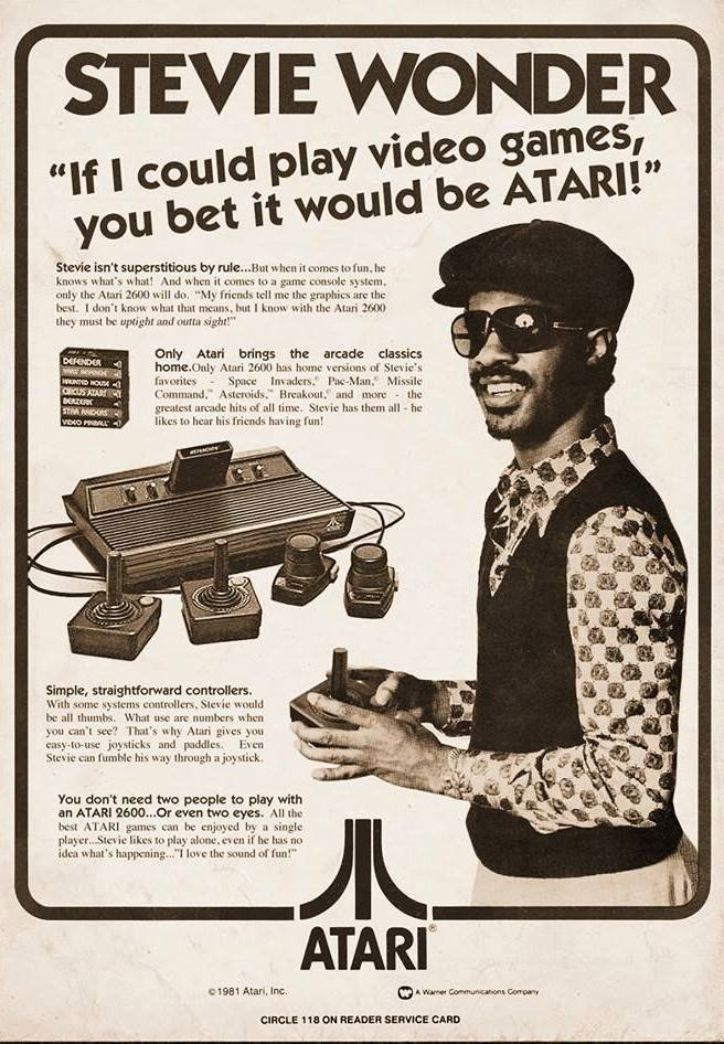 stevie wonder atari endorsement