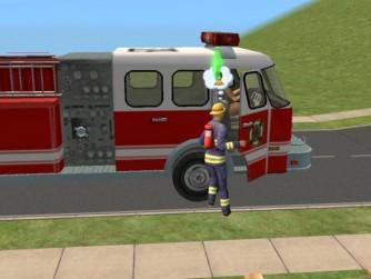 sims 3 firetruck