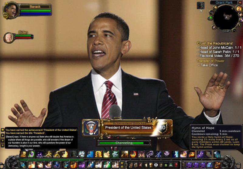 obama achievement world of warcraft