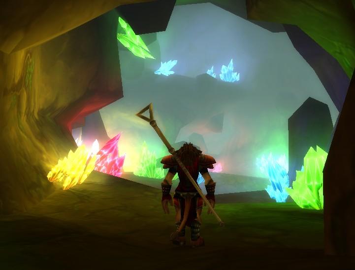 Tauren in a crystal cavern