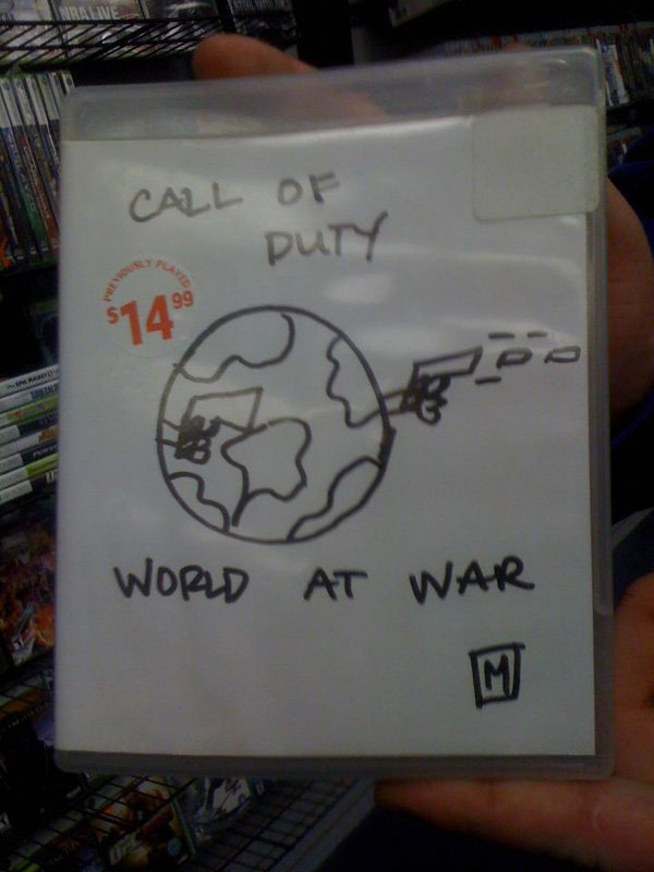 gamestop cover call of duty world at awar