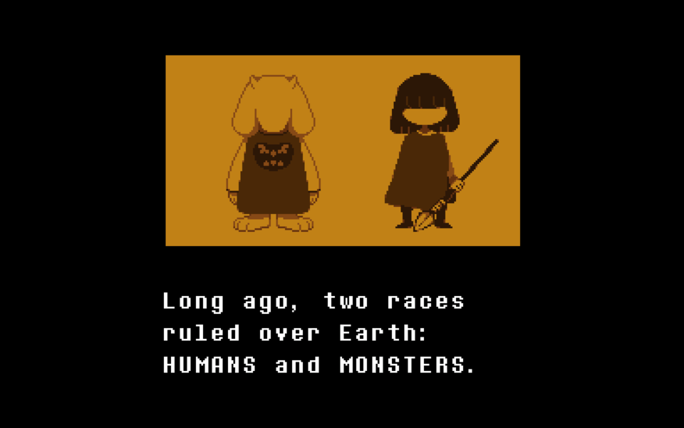 In the end we're all of two races: Humans and monsters!
