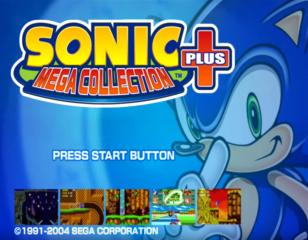 Sonic Mega Collection Plus title screen
