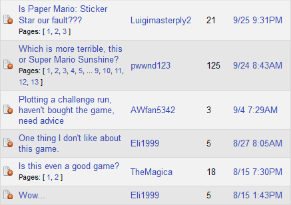 Meanwhile, on GameFAQs...