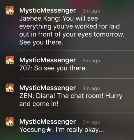 mystic messenger hack app